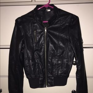 H&M Bomber Leather Jacket